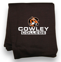 "BLANKET ""C"" COWLEY COLLEGE BLACK  54X84in"