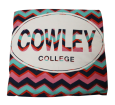 BLANKET CIRCLE COWLEY COLLEGE CHEVRON  54x84in
