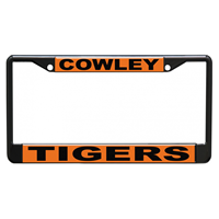 License Plate Frame Metal Cowley Tigers