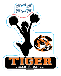 Sticker B84 C Tiger Cheer&Dance