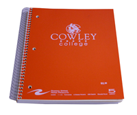 "Notebook Spiral 5 Sub ""C"" Cowley College"