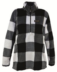 Artisan Pullover Women Plaid/Sherpa Cowley College Tigers