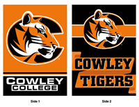 "Flag Dual Sided Cowley College / Cowley Tigers 28""X40"""