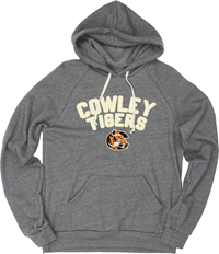 Blue 84 Womens Hood Raglan Triblend Cowley Tigers C