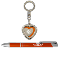 Pen & Heart Key Tag Set