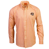 Antigua Mens Long Sleeve Rank Plaid